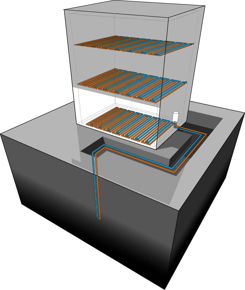 Commercial Geothermal Diagram Wyckoff Heating Cooling